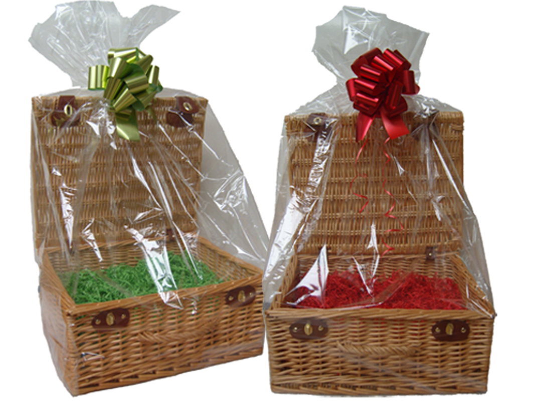 Cellophane Hamper Bag (pk 10) - 47x43x122cm high - LARGE