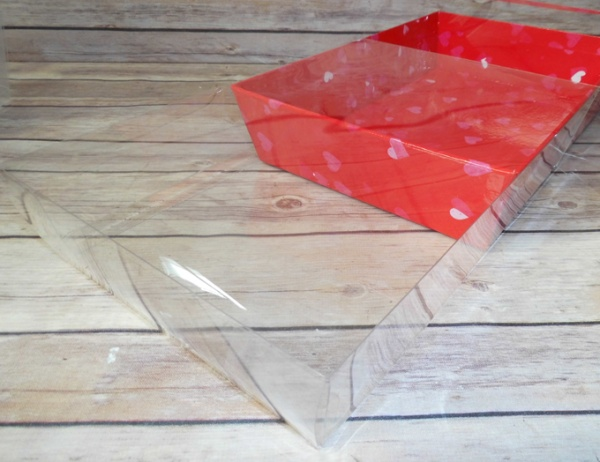 10 x CLEAR ACETATE BOXES  30x20x6cm - MEDIUM