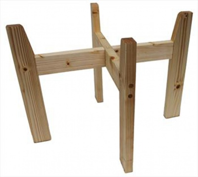 Wooden Stand for Shopping Baskets - NATURAL (large)