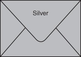 Envelopes for Gift Cards - METALLIC SILVER (pack of 100)